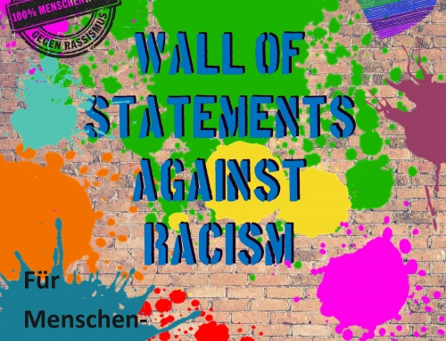 wall of statements against racism